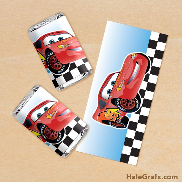 free printable cars lightning mcqueen mini candy bar wrappers, Birthday invitations