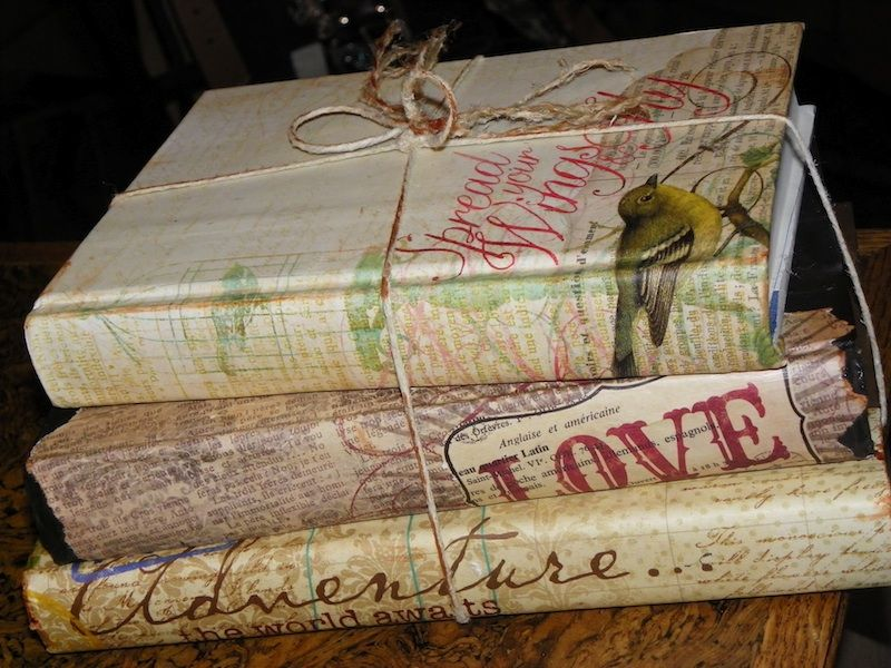 A new Look for an old book...the uses for old books #bookspapersandthings