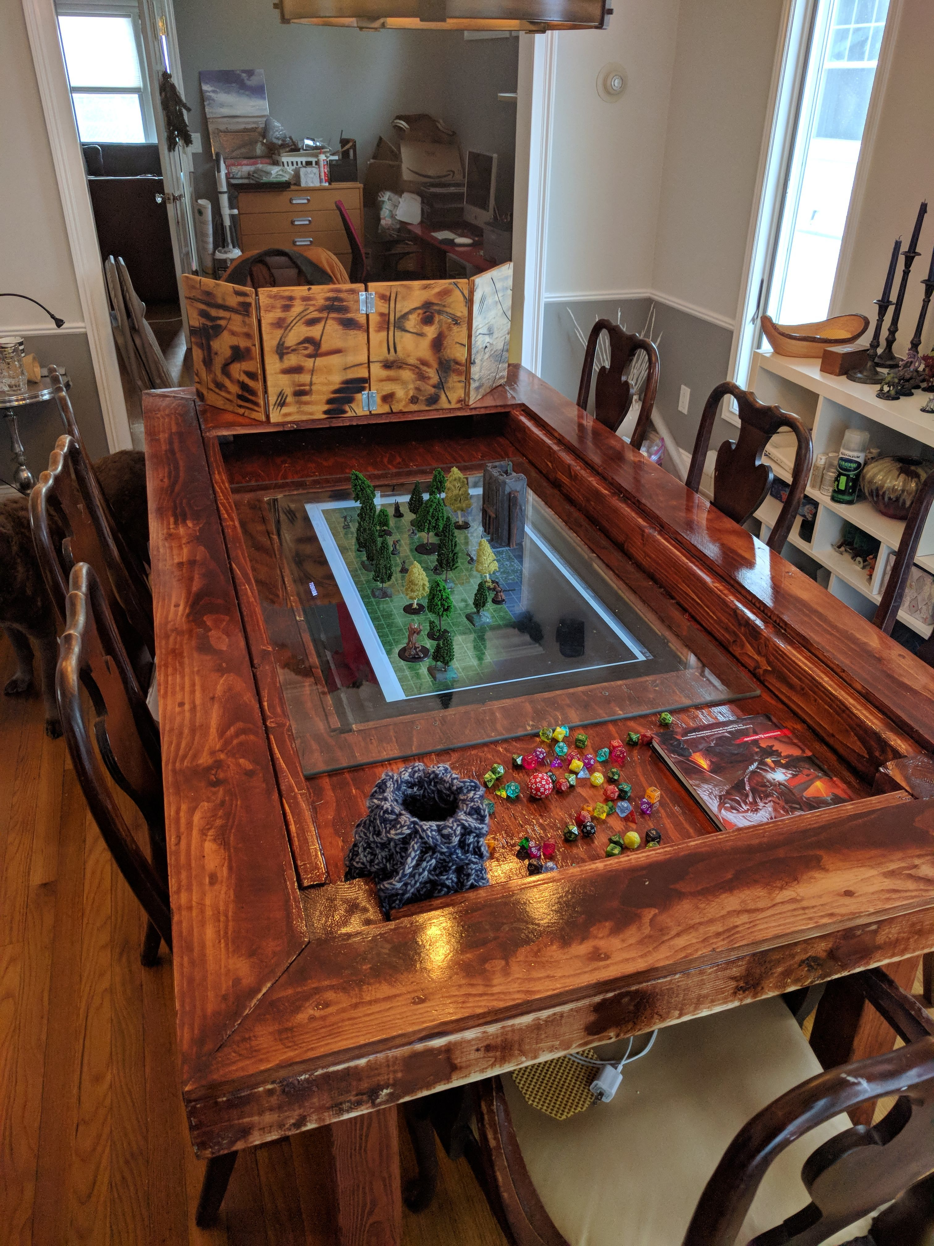 My New D D Table Album On Imgur Game Room Tables Dnd Table Gaming Table Diy
