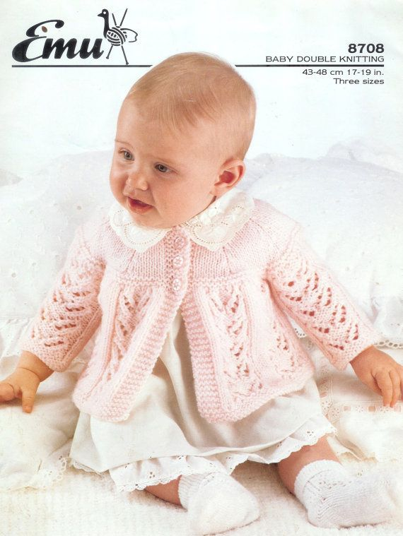 Baby DK Baby 8ply Light Worsted Matinee Jacket 17-19 ins - PDF of ...