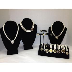 Chanel Vintage Button Jewelry @Meghan Krane brown love it! must try! #ecrafty