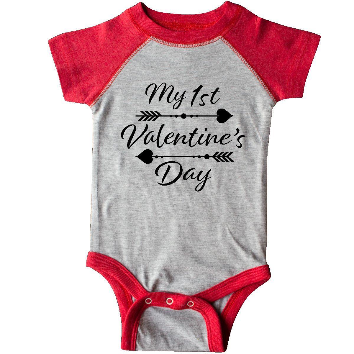 Baby Vest My First Valentines Red Love Heart Baby Bodysuit Cute Valentines Gift