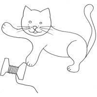 Coloriages sur les chats de toutes sortes Coloriage chat