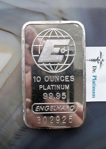 Engelhard 10 Ounce 9995 Platinum Bar Ebay Doomsday