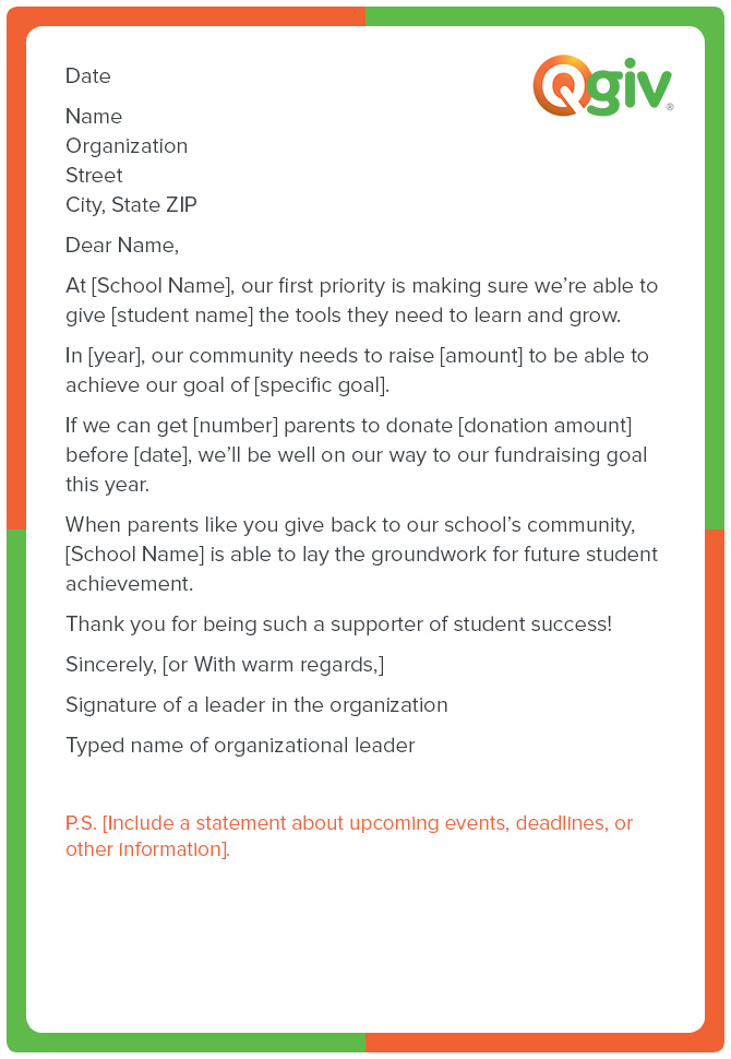 Letter Template Asking For Donations (7) - TEMPLATES ...