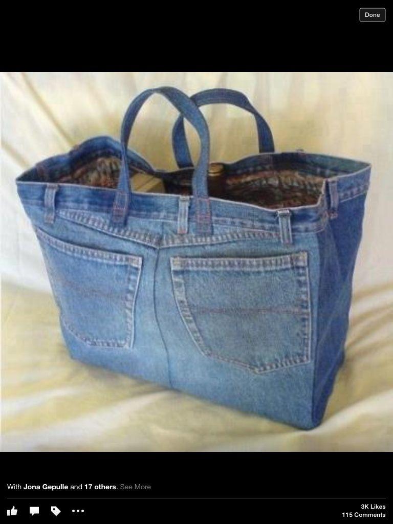 Pin von sylvia bruckner auf Bags | Pinterest | Jeans, Nähen und alte ...