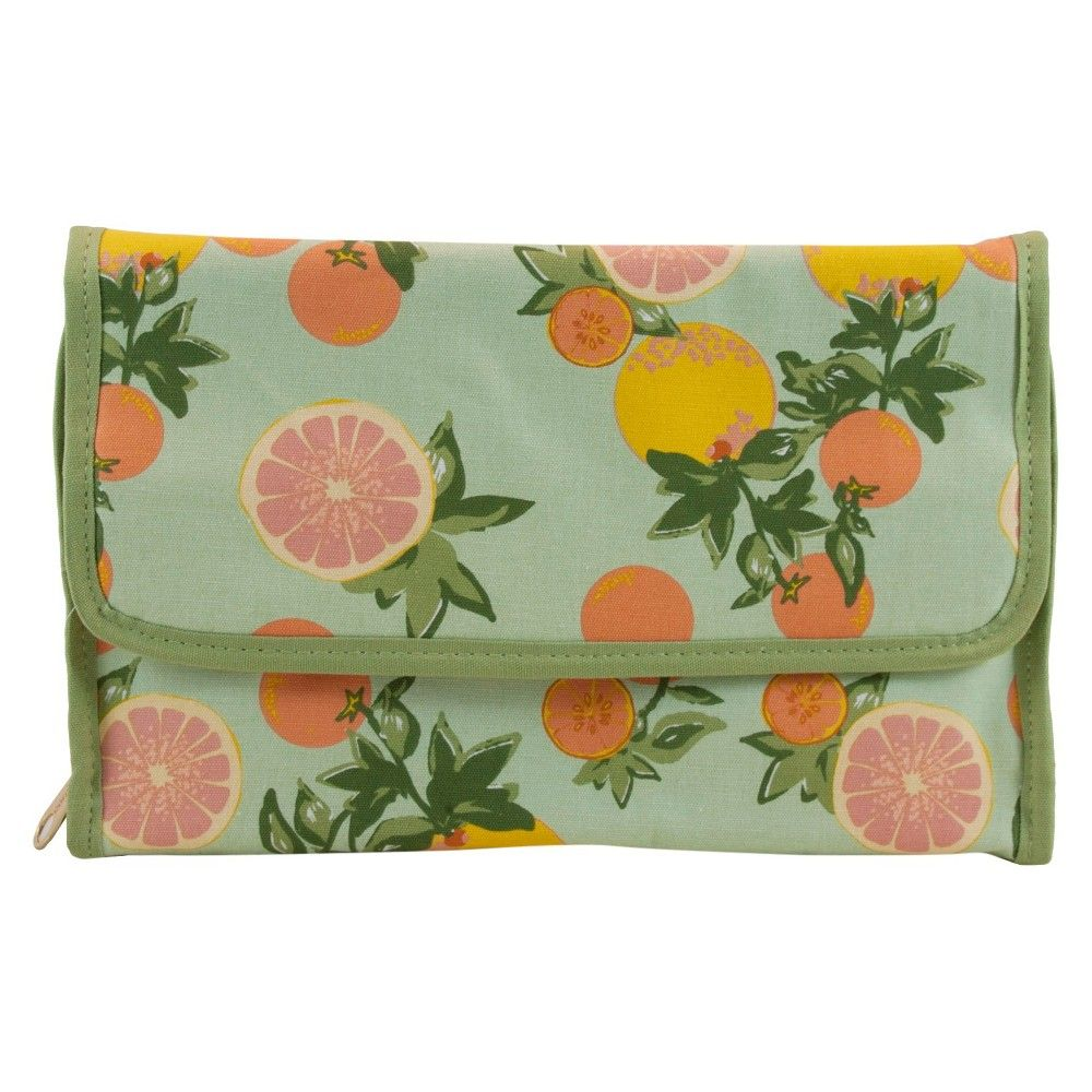 Contents Citrus Floral Valet Cosmetic Bag,