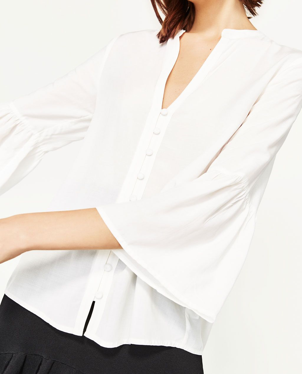 00c35ef3a7 BLOUSE WITH RUFFLE SLEEVES-View All-TOPS-WOMAN | ZARA United States ...