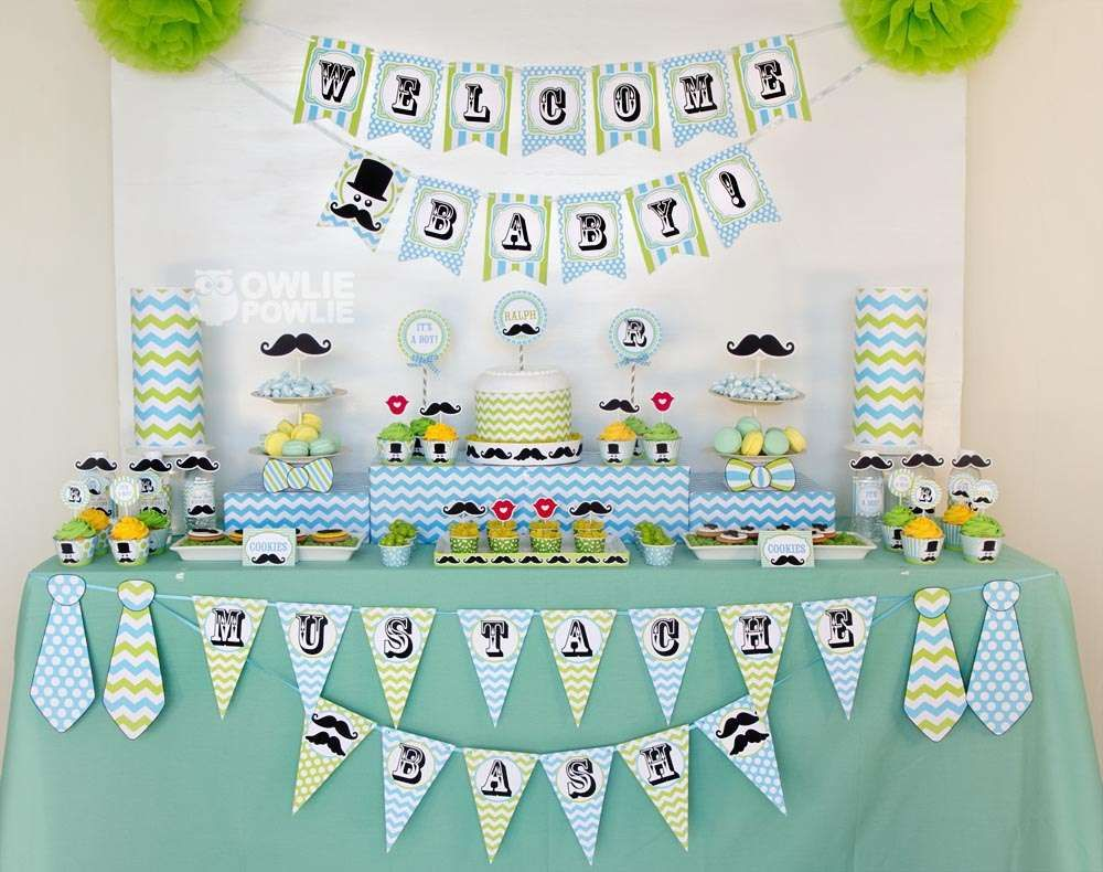 Awesome Little Man Mustache Bash Baby Shower Party Ideas