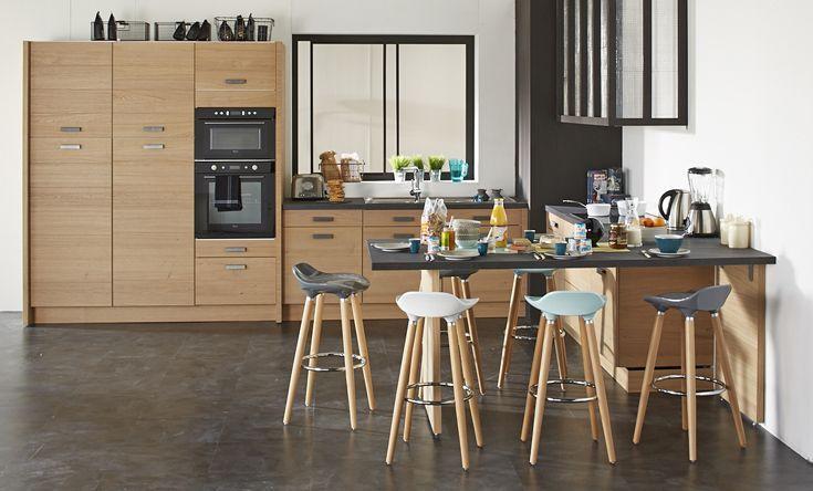 Une Cuisine Authentique Et Moderne Cuisine Idées Déco Alinéa - Meuble en frene massif pour idees de deco de cuisine