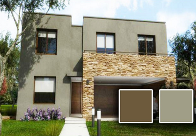 Pinturas exteriores de casas modernas casas pinterest for Colores modernos para exteriores