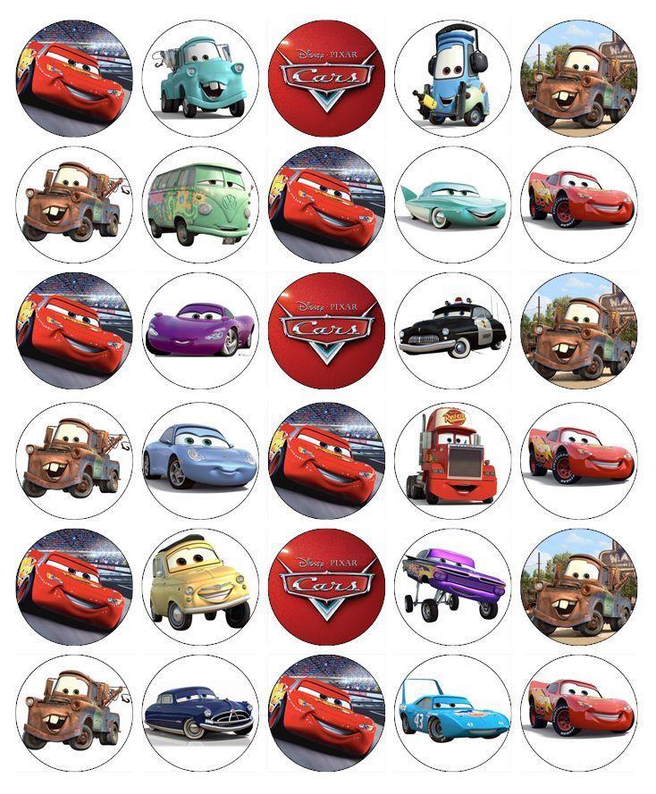 Details About 30x Disney Cars Lightning Mcqueen Cupcake