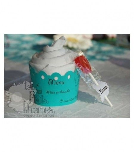 Pliage de serviettes cupcake d coration mariage - Pliage serviette theme mer ...