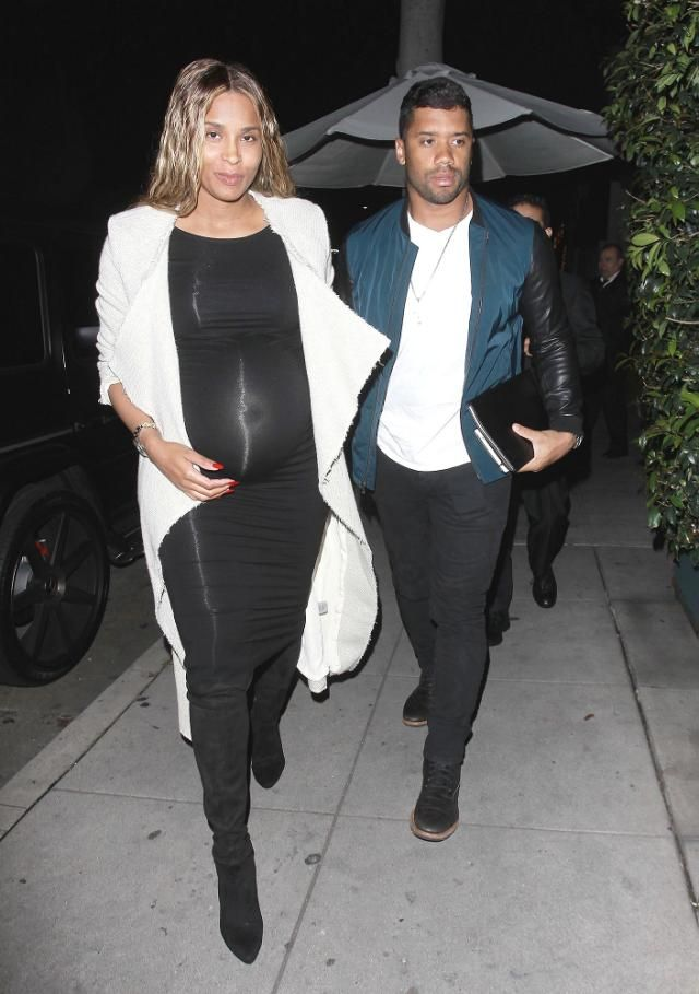 Oh, Baby (Bump)! Pregnant Ciara Glows During Makeup-Free Date Night with Russell Wilson