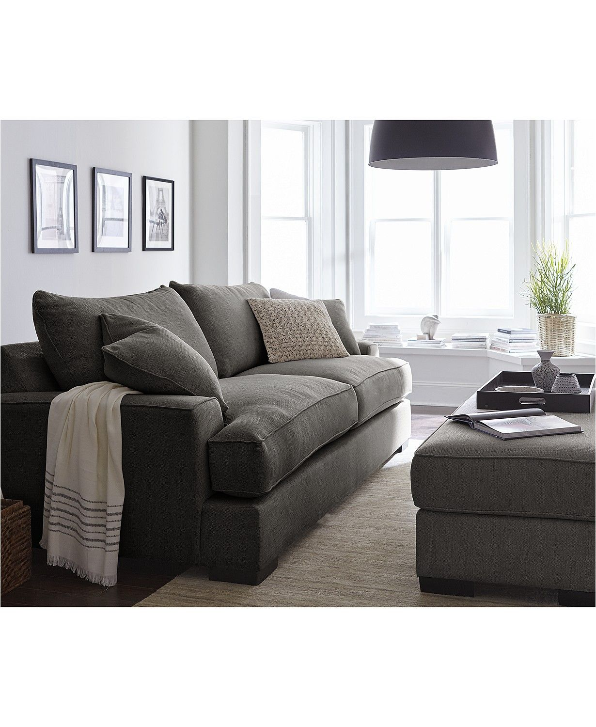 Furniture Ainsley Fabric Sofa Living Room Collection Created For