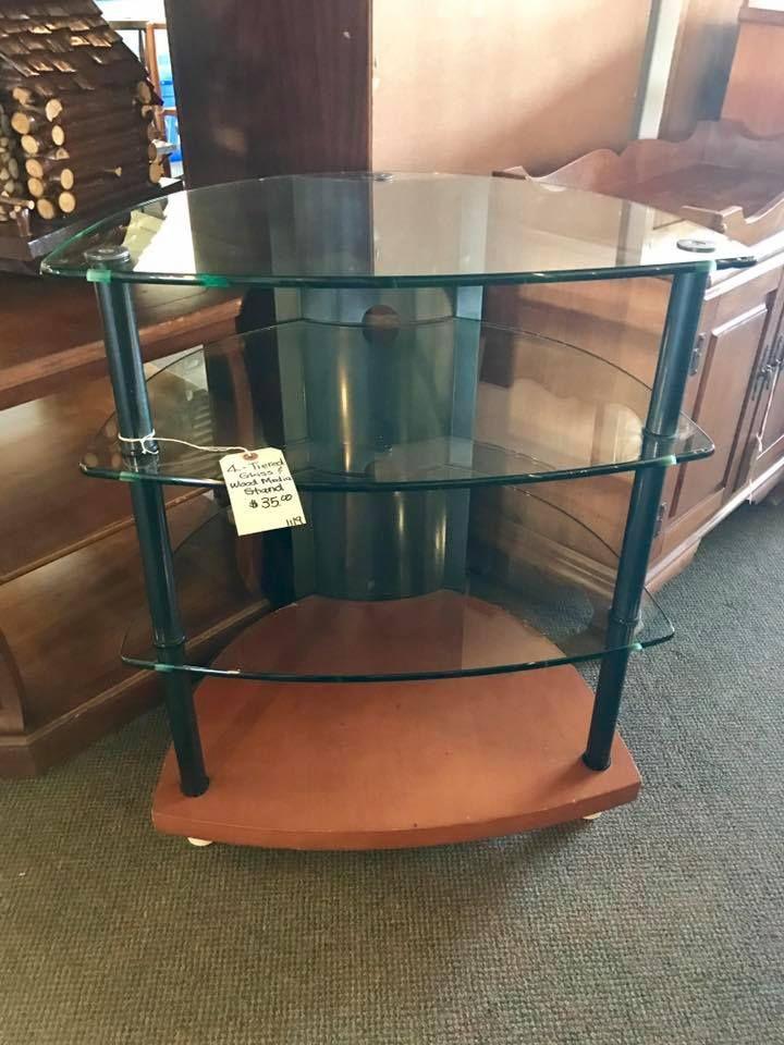 Four Tier Glass Media Stand 35 Furniture Furniture Decor