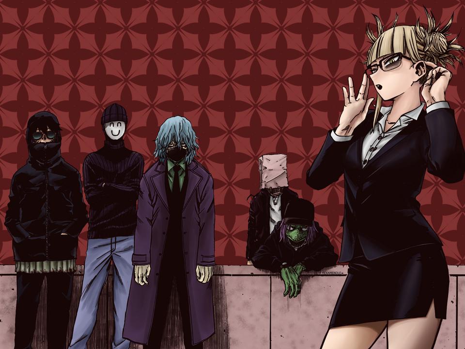 League Of Villains Colored Bokunoheroacademia Hero Hero Wallpaper Hero Academia Characters