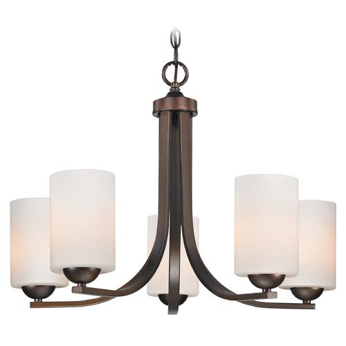 Contemporary bronze chandelier with white cylinder glass shades contemporary bronze chandelier with white cylinder glass shades aloadofball Images