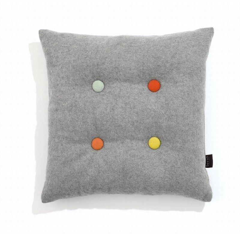 Button Cushion Grey Taki
