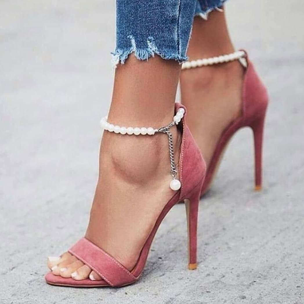 Nice blush high heels   Ankle strap