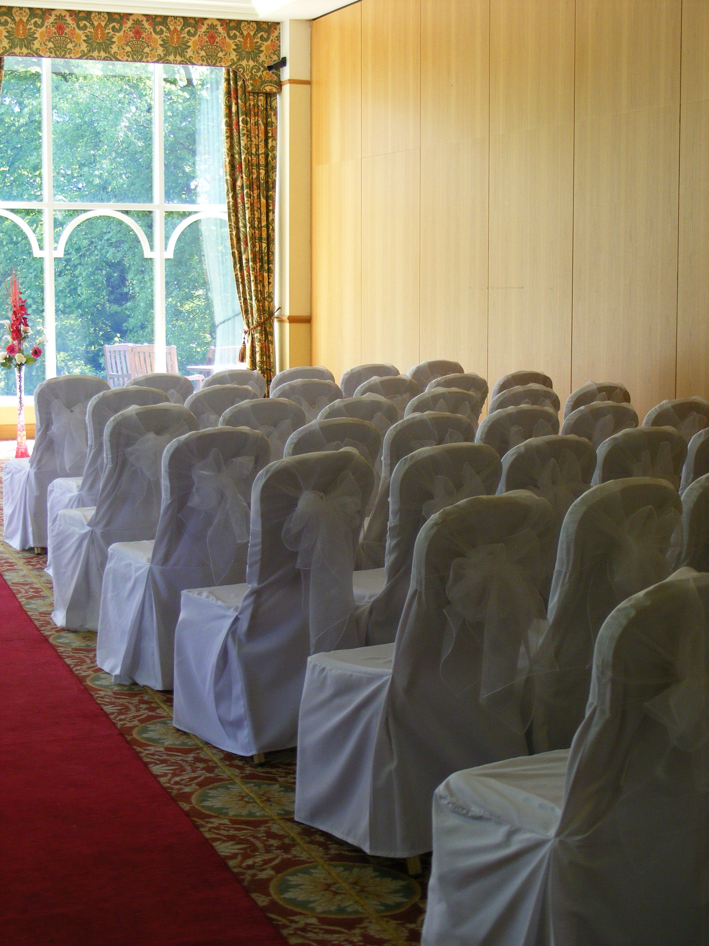 Court Weddings Chair Covers Sash Wedding Ceremonies Clic White Cotton Band Receptions