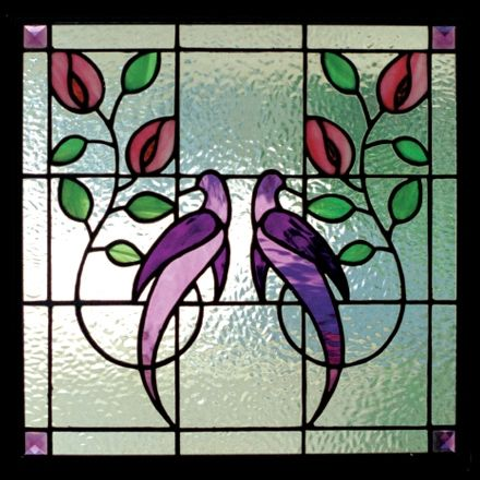 Stained Glass Patterns Birds A Pair Of Graceful Stylized Stained Simple Stained Glass Patterns For Sale
