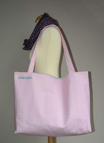 Canvastaschen - Shopper, Strandtasche, Sommertasche Canvas rosa - ein Designerstück von Herz-Stichelei bei DaWanda