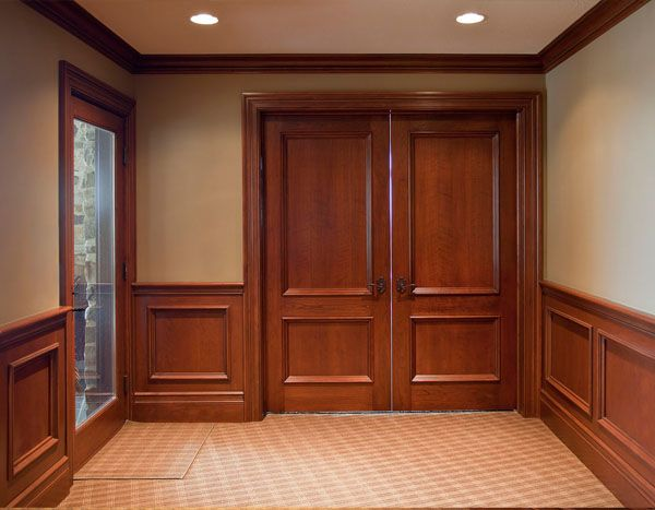 Custom Made Wood Raised Panels Wainscoting Wall Wainscoting Traditional Home Offices