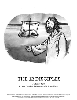 Jesus Chooses His 12 Disciples Sunday School Coloring Pages If You