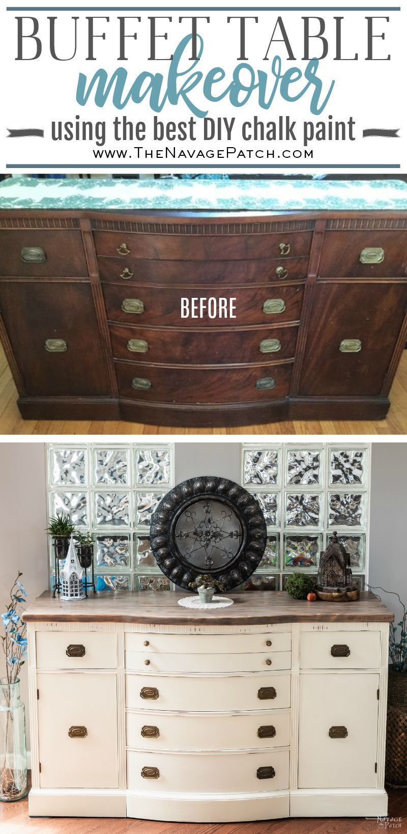 Vintage Buffet Makeover How To Paint A Buffet Table The Navage Patch Buffet Makeover Vintage Buffet Buffet Table Decor