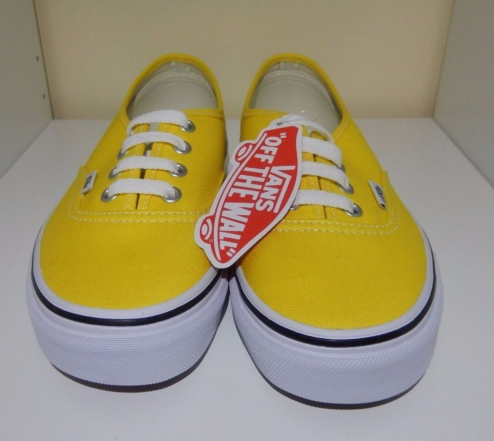 9236c39fbc4e New with Box VANS Authentic Cyber Yellow True White Vans Womens Size ...