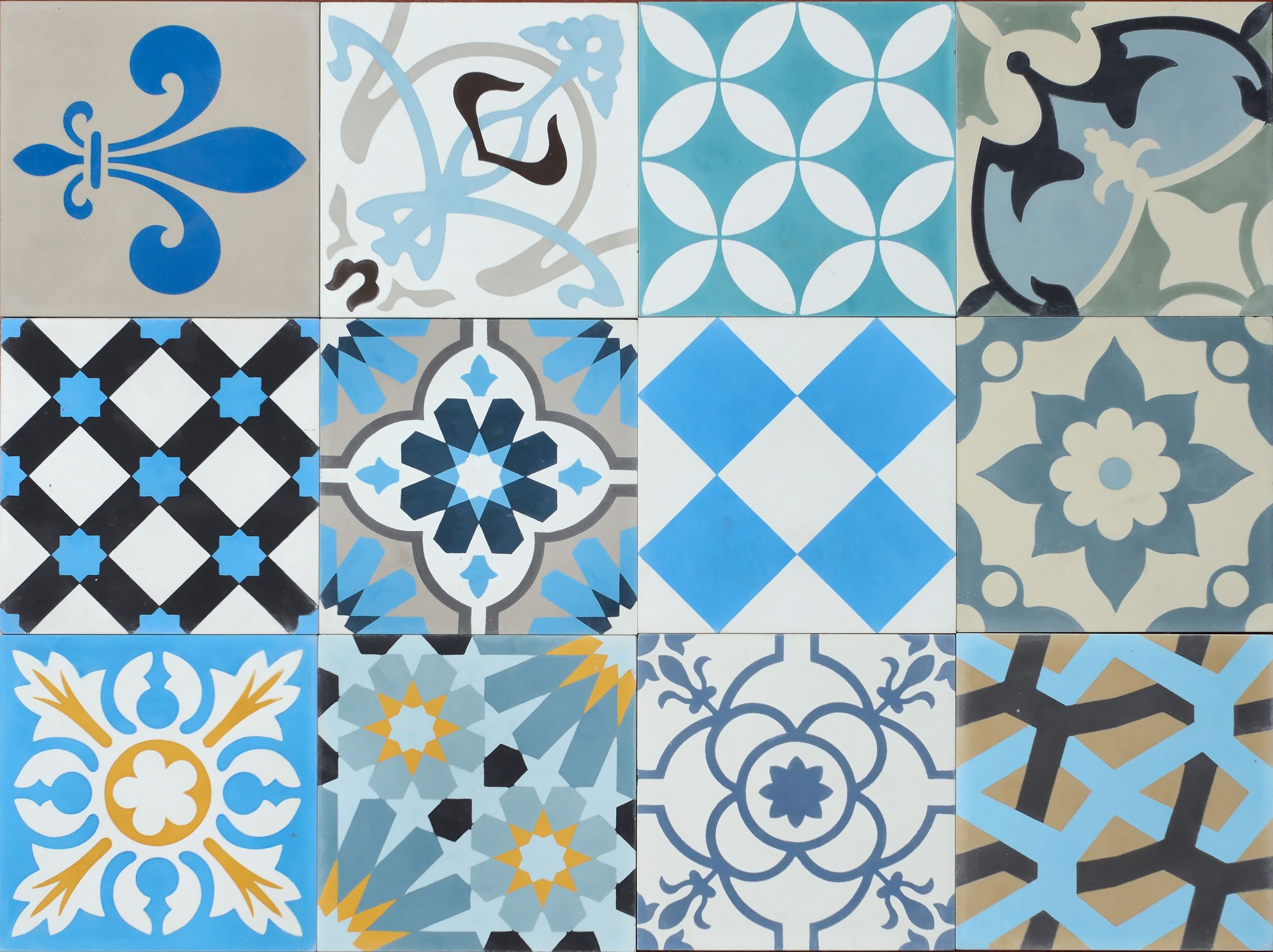 patchwork blue collection saint palais carrelage. Black Bedroom Furniture Sets. Home Design Ideas