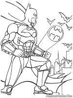 Batman Dengan Gambar Halaman Mewarnai Buku Mewarnai Lembar
