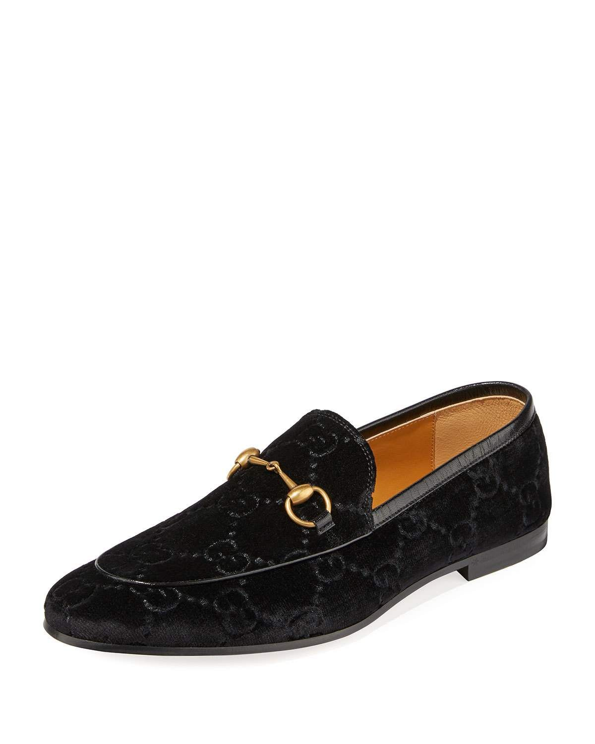 03e45986cee GUCCI MEN S INTERLOCKING-GG VELVET LOAFER.  gucci  shoes