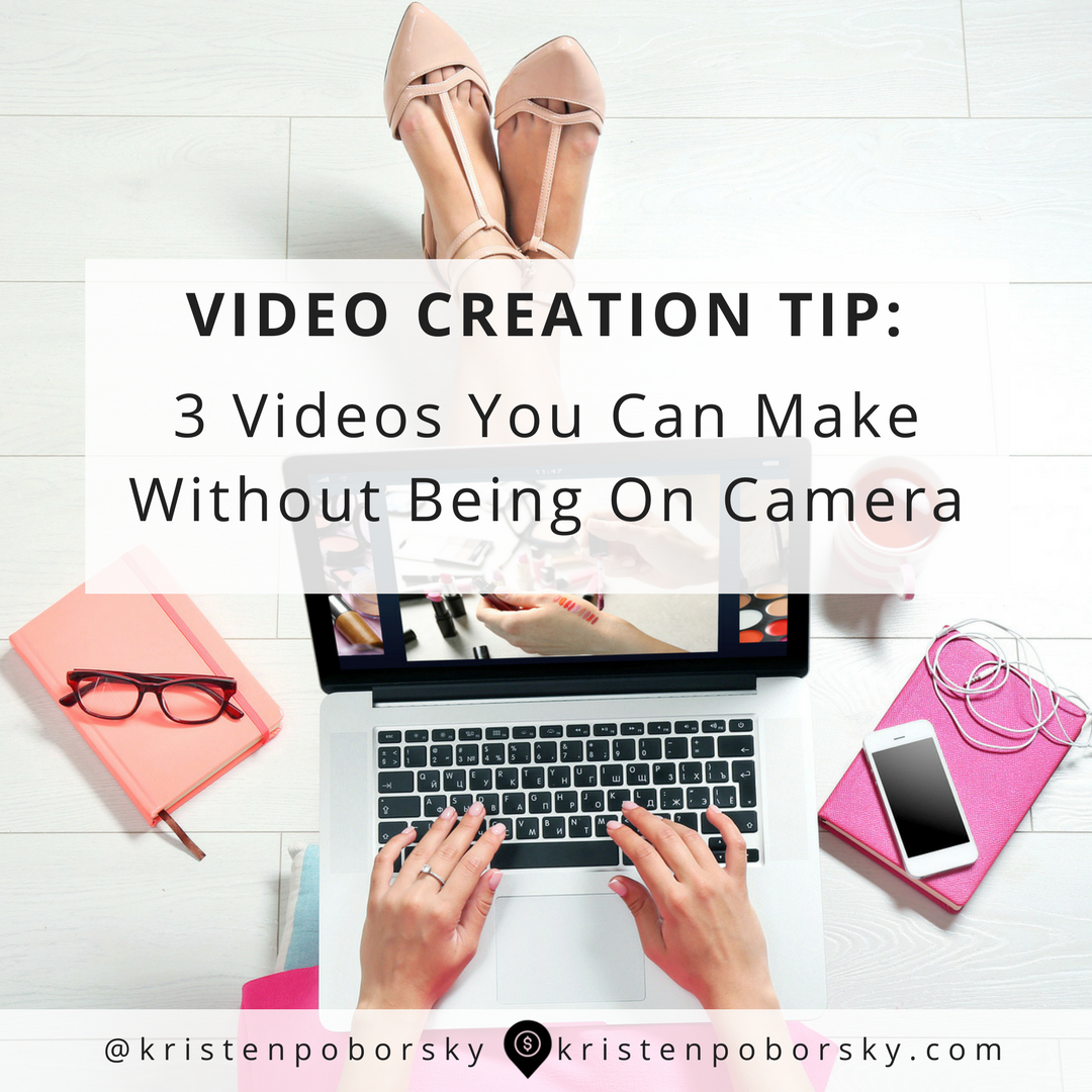 Stopped by the thought of starring in your own video? In this post I show you 3 videos you can make without being on camera.