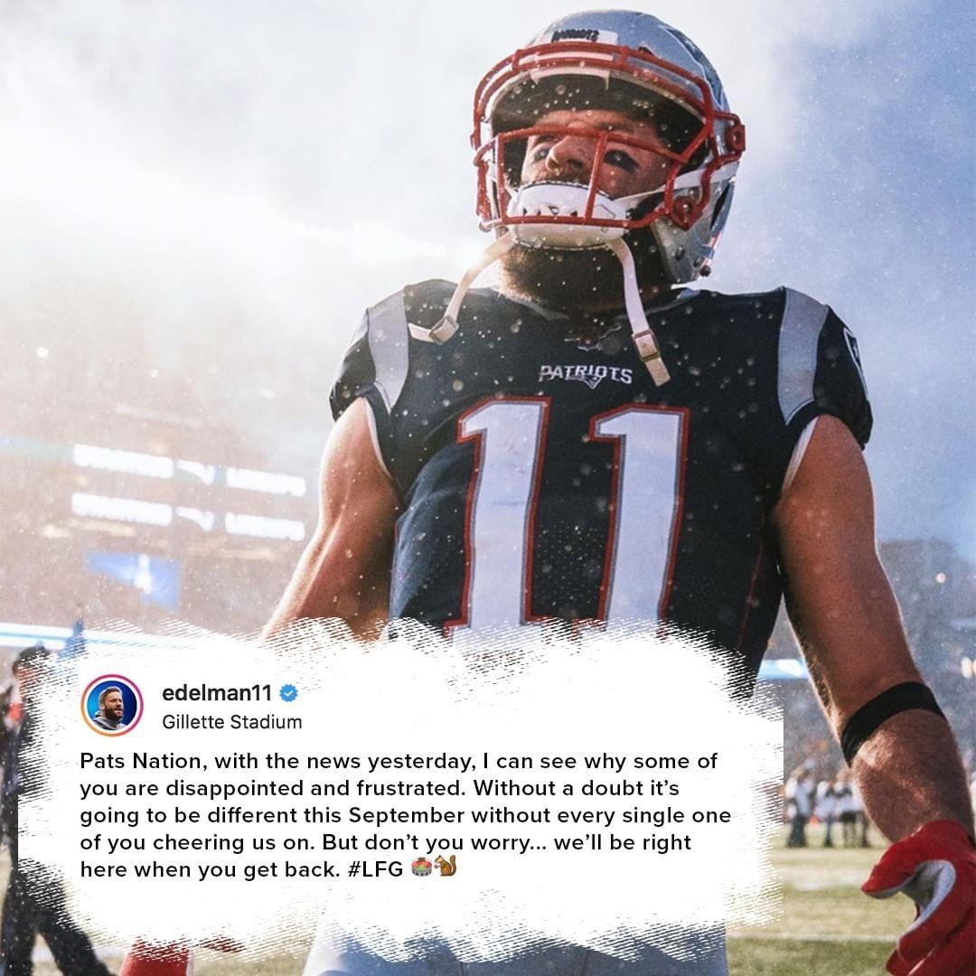 138 Mil Me Gusta 823 Comentarios New England Patriots Patriots En Instagram A Message From Edelman11 To Pa In 2020 New England Patriots Patriots New England