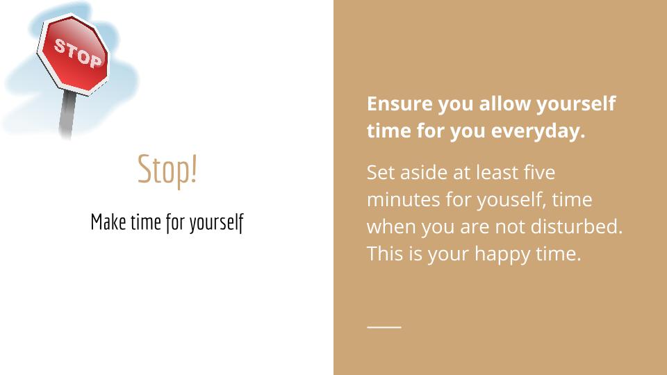 5 minutes to happy - Stop