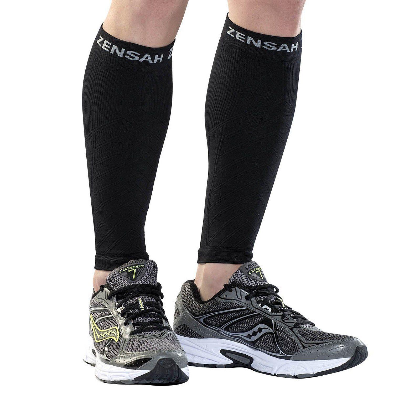 Amazon.com : Zensah Compression Leg Sleeves, Black, Large/X-Large : Medical Support Hose And Socks : Sports & Outdoors