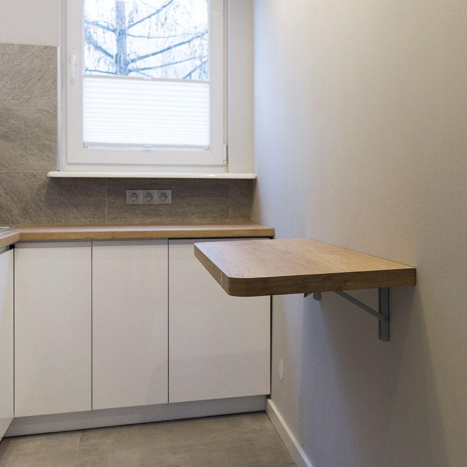 Rozkładany Stół W Wąskiej Kuchni Pomysły Do Domu