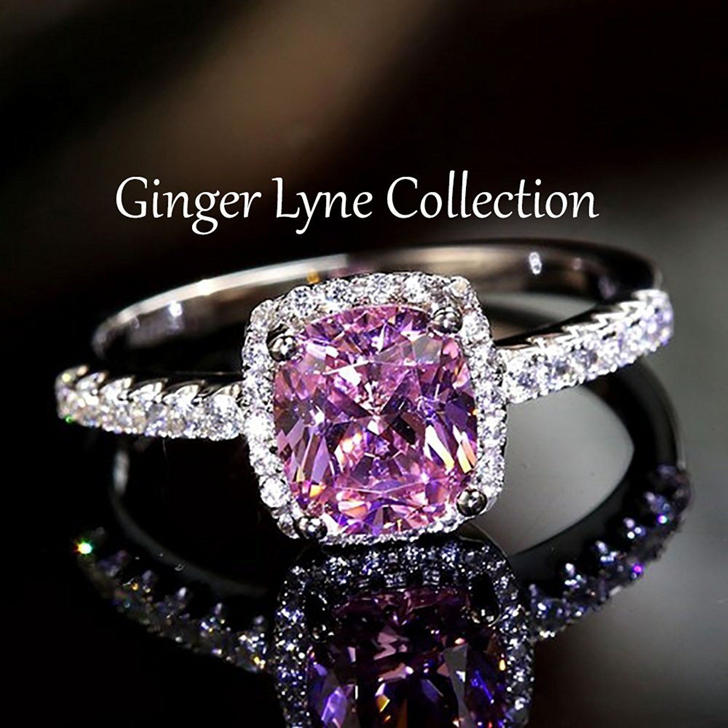 Ginger Lyne Collection Temple Pink Cubic Zirconia Womens