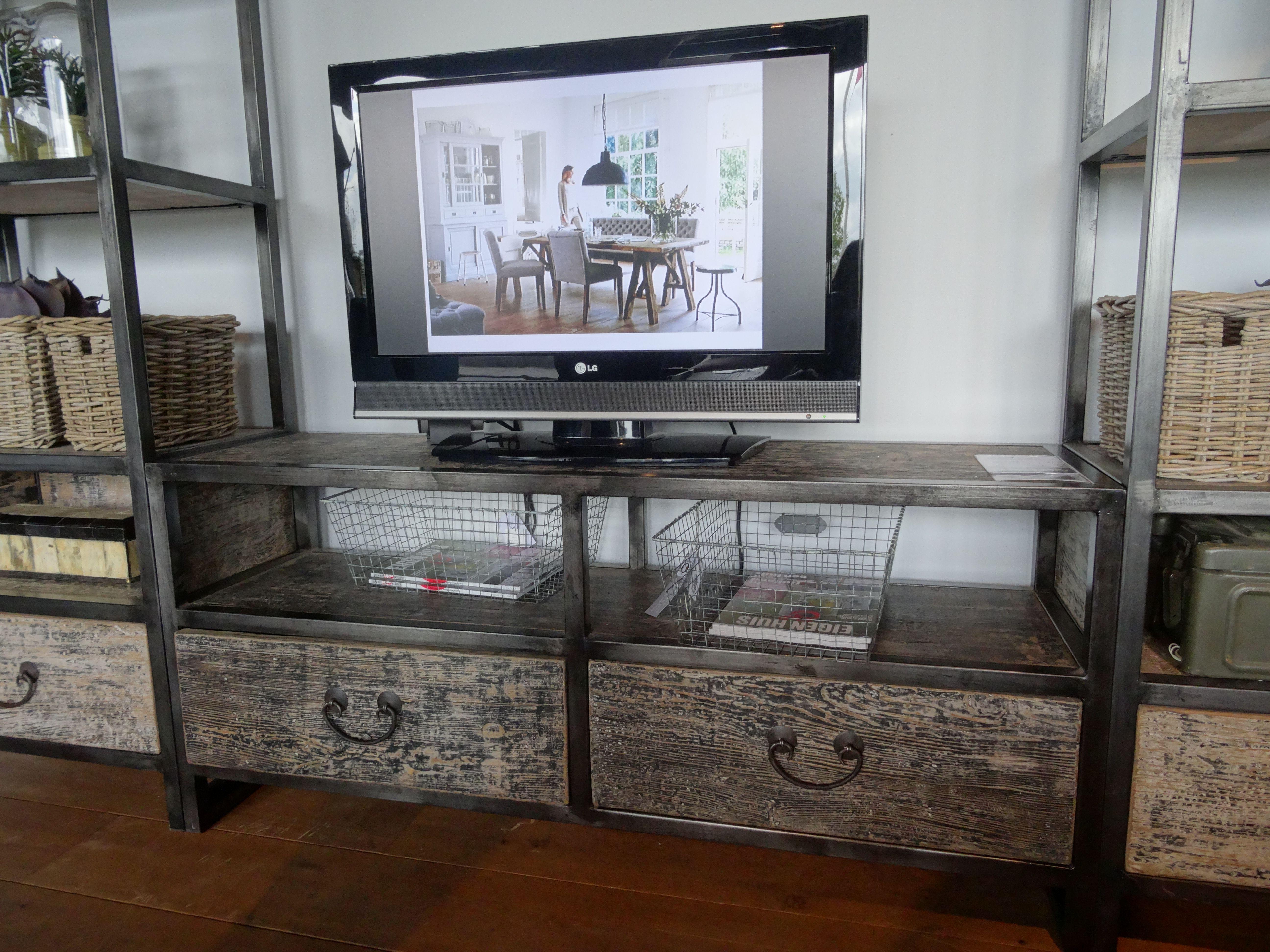 Kast Grijs Hout : Tv meubel grijs hout met staal kabinet zonder hoge kasten nuwe