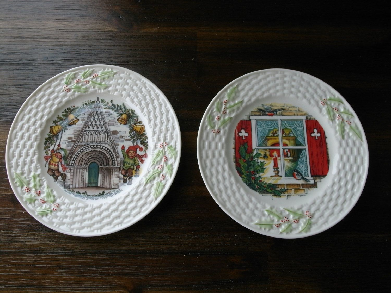 Irish Belleek Plate Collection Set Total 20 By Vintageworldroad Beautiful Christmas Plates Plates Belleek