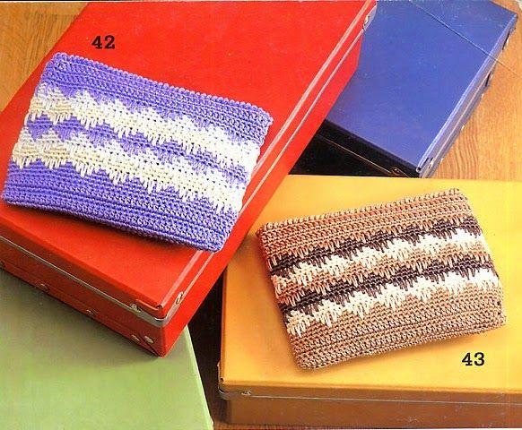 Monedero tejido al crochet - con diagramas explicativos Crochet y