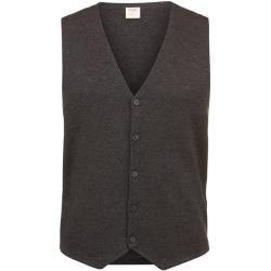 Knit vests for men -  Olymp Level Five knit vest, body fit, anthracite, M olympymp  - #fallskirtoutfits #Knit #men #photographyarticles #photographyfilters #vests