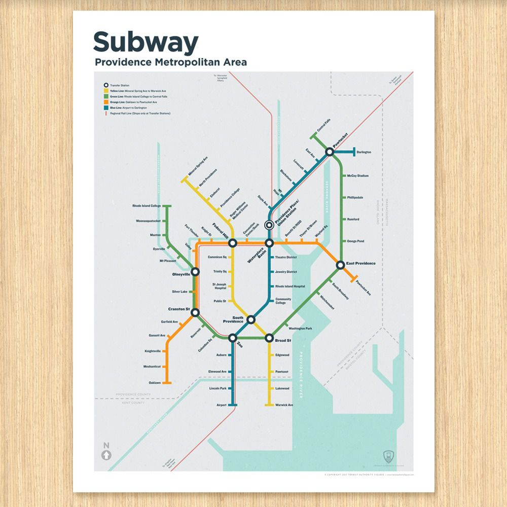 Providence Subway Map.Transit Authority Figures Providence Subway Map Mapmonday