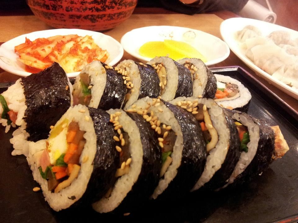Gimbap, 김가네 restaurant, Myeongdong, Seoul