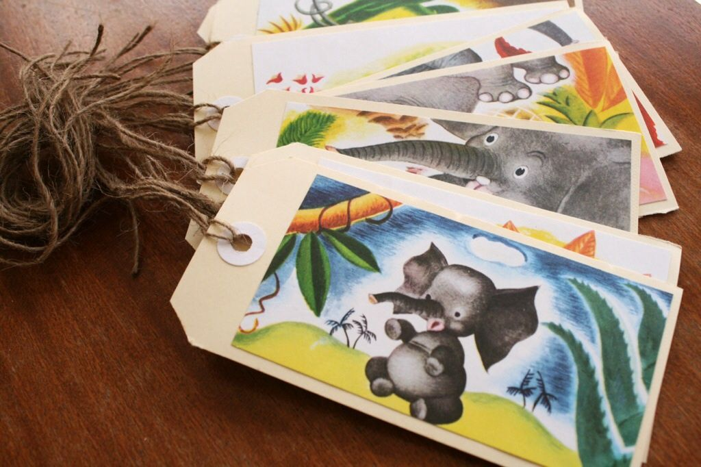 Make New Gift Tags From The Pages Of An Old Golden Book Hunting