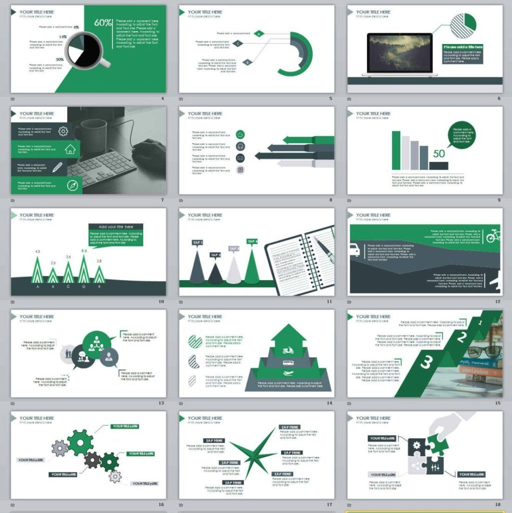 30 Creative Powerpoint Templates Ppt Slides To Present: 21+ Simple Green PowerPoint Template