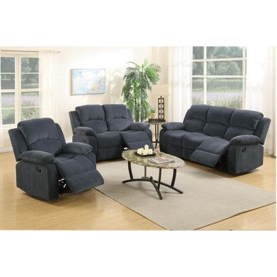 Best A J Homes Studio Linda 3 Piece Reclining Living Room Set 400 x 300