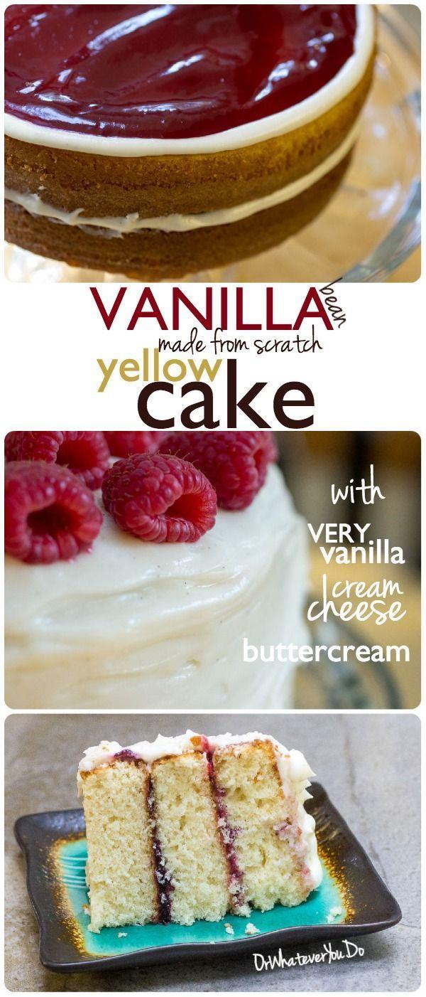Vanilla Bean Yellow Cake BEST DESSERTS Pinterest Yellow